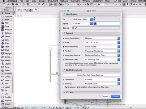 Drawing Views in ARCHICAD
