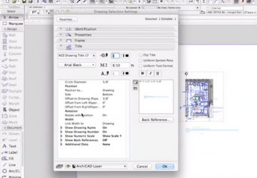 Drawing Titles in ARCHICAD