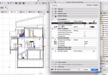 Sections in ARCHICAD
