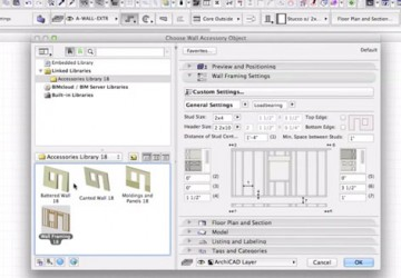 Wood Frame System in ARCHICAD